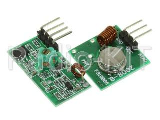 Радиомодуль беспроводной передатчик и приемник 433M 2 платы Модуль(FS1000A+080408)