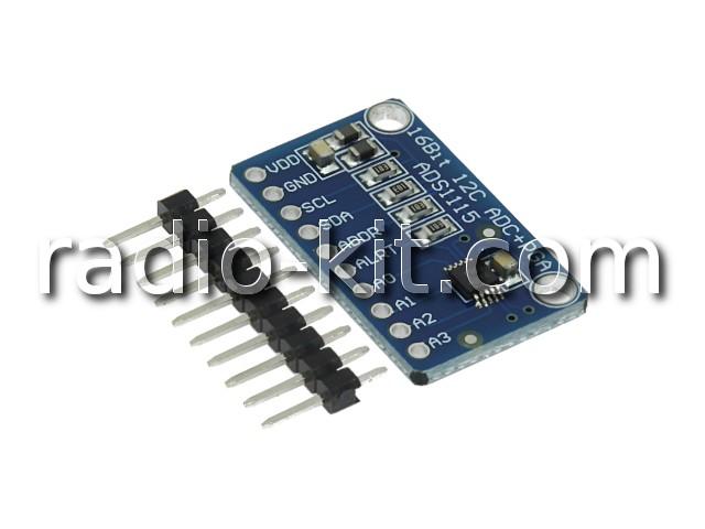 АЦП CJMCU 16-бит I2C на ADS1115 Модуль