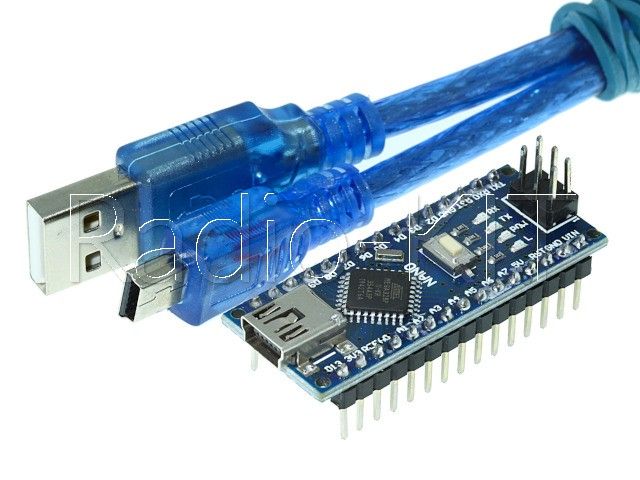 Ардуино nano V3.0 Mega328 DCCduino с USBA-USBmini шнуром Модуль