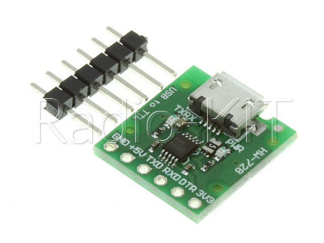 Преобразователь USB-TTL на CH340E, разъем microUSB Модуль