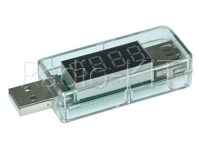 USB тестер с LED индикатором Charger doctor прямой