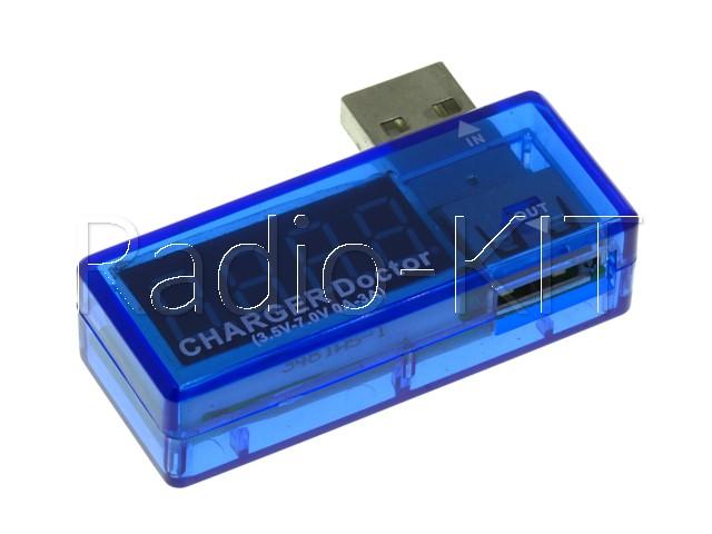 USB тестер с LED индикатором Charger doctor угловой