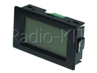 Вольтметр цифровой AC 220V с ЖКИ-индикатором D85- 20 синяя подстветка, корпус
