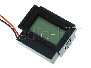 Вольтметр цифровой AC 220V с ЖКИ-индикатором D91-20 синяя подстветка, корпус с рамкой