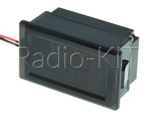 """Индикатор заряда аккумулятора с LED-индикатором и вольтметром 12-60V (0.56"""" красный) водонепрониц"""