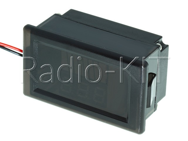 """Индикатор заряда аккумулятора с LED-индикатором и вольтметром 72V (0.56"""" красный) водонепрониц"""