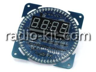 Часы-термометр цифровые со светодиодами по кругу FC-209
