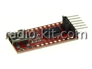 Преобразователь USB-TTL на FT232RL, разъем miniUSB Модуль