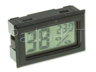 Термометр-гигрометр цифровой ЖКИ прямоугольный черный FY-11
