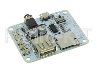 Аудиомодуль с картой памяти, USB и Bluetooth Audio Receiver HF-36(HW-329-B)  Модуль