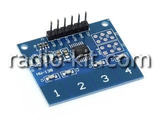 Сенсорная кнопка выключатель 4 канала для Ардуино HW-138 Модуль