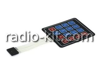 Клавиатура тонкопленочная 16 кнопок 4*4 для Ардуино Модуль