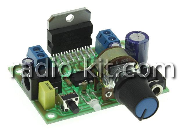 УНЧ 2х 15Вт на TDA7297 с регулятором громкости K192 Набор