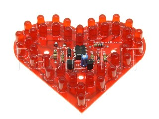 """Pulsing Heart"" Light effect DIY KIT K204.1"