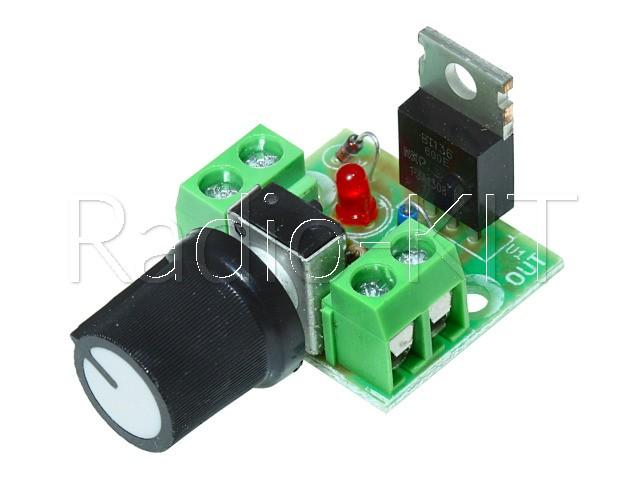 Регулятор мощности AC 220V 1kW с изолированной ручкой K216.4 Набор