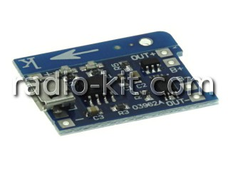 Плата зарядки Li-Ion-18650 аккумуляторов 03962A Модуль