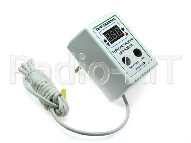 Терморегулятор цифровой AC220V Термодаллас (-55*С +120С; шаг 0.1*С) в розеточном корпусе