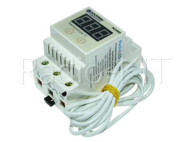 Терморегулятор цифровой AC220V Термодаллас M149D (-55*С +120С; шаг 0.1*С) в DIN корпусе