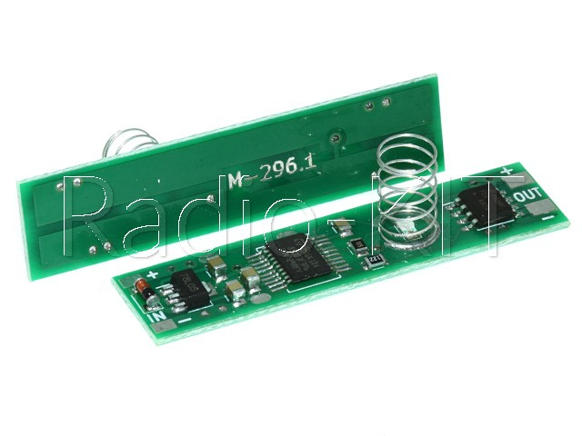 Сенсорный диммер для профиля с памятью I=5A, пружина=10мм, M296.1B