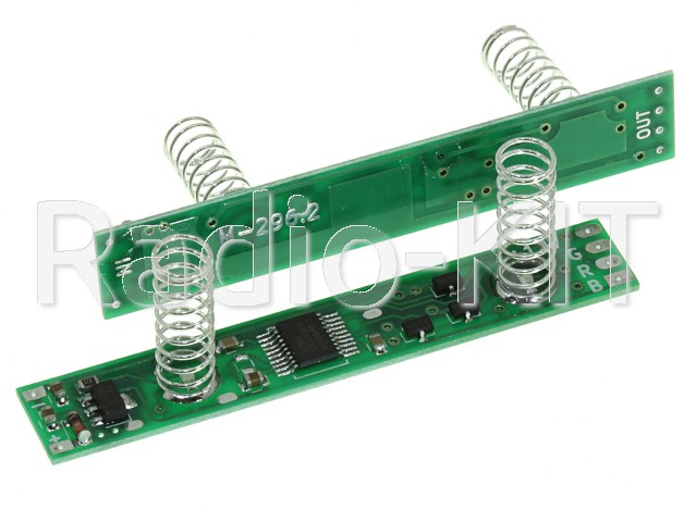 Сенсорный диммер для профиля для RGB ленты, 2 пружины по 20мм, M296.2N с эффектами