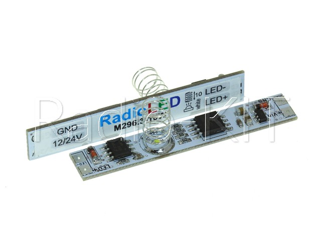 Сенсорный диммер для профиля с памятью I=5A, пружина=10мм, M296.3-10W