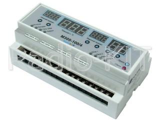 Терморегулятор цифровой AC220V с GSM оповещением многоканальный M305-100/4