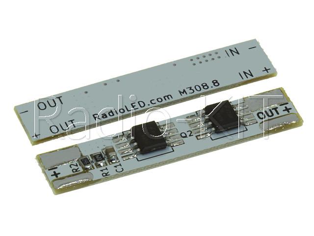 Модуль плавного включения светодиодной ленты 8А 12/24В на клейкой основе M308S-8