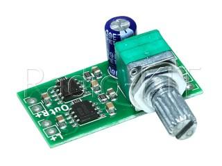 УНЧ 2х  3Вт на MD8002 с регулятором M318 Модуль