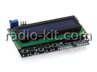 Панель управления и индикации LCD1602 с кнопочным интерфейсом для Ардуино Модуль