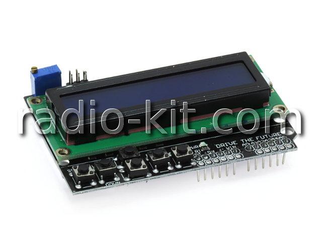 Панель ввода вывода LCD1602 с кнопочным интерфейсом для Ардуино Модуль