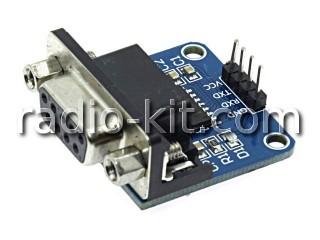 Преобразователь RS232-TTL двунаправленный на MAX3232, разъем DB9 Модуль