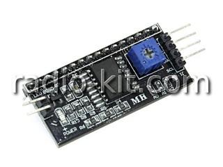Преобразователь шины I2C в расширение для LCD 1602 на PCF8574T Модуль