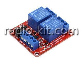 Плата реле управляемые — 2 шт оптоизолированные(EL354N) на 5VDC Модуль