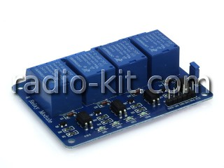Плата реле управляемые — 4 шт оптоизолированные Модуль