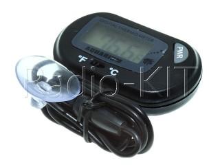 Термометр цифровой для аквариума ЖКИ ST-3, черный корпус