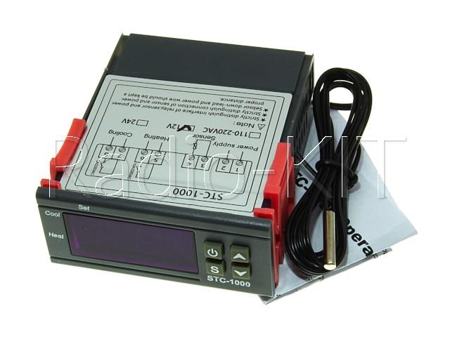 Терморегулятор цифровой AC220V STC-1000 в корпусе приборном