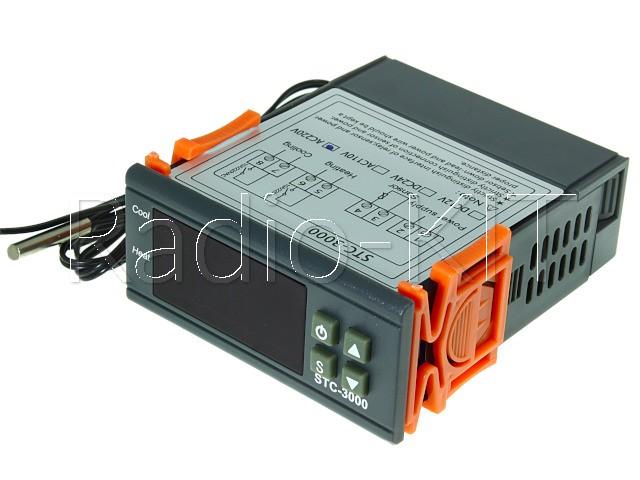 Терморегулятор цифровой AC220V STC-3000 в корпусе приборном