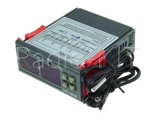 Терморегулятор цифровой AC220V STC-3008 двухканальный в корпусе приборном