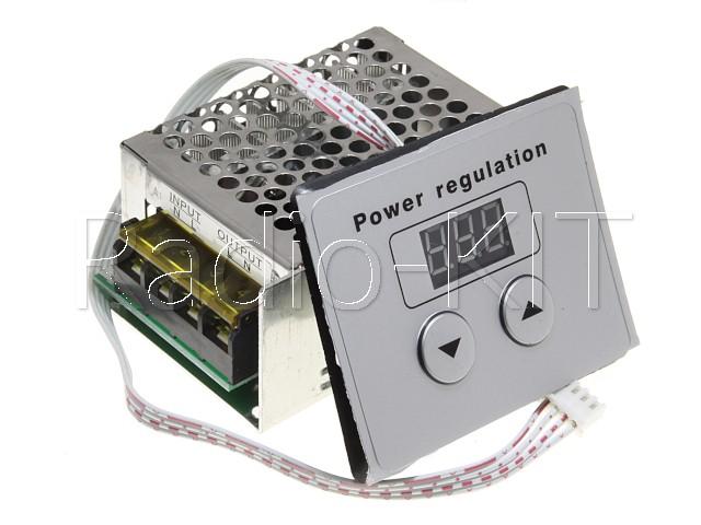 Регулятор мощности AC 220V 4kW в корпусе с кнопочным управлением Модуль (комплект 2 модуля)