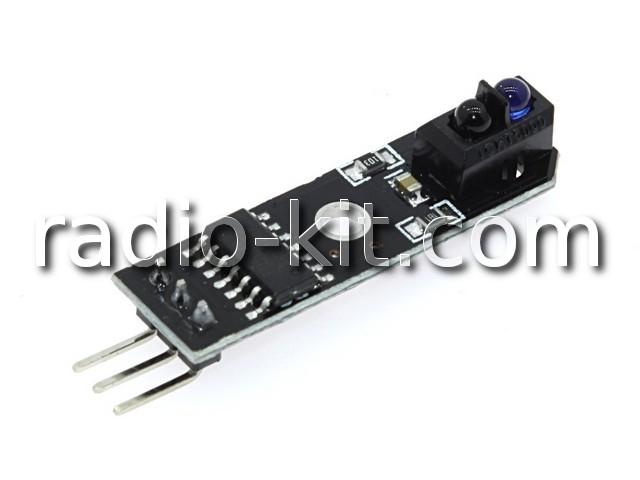 Датчик оптический отражающий(датчик линии) для Ардуино на TCRT5000(вдоль оси платы) Модуль