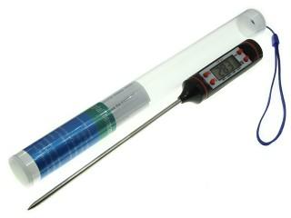 Термометр цифровой ЖКИ с щупом-иглой черный TP101