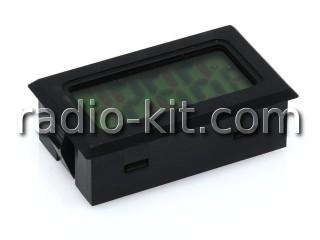 Термометр цифровой ЖКИ TPM-10 черный корпус, датчик внутри