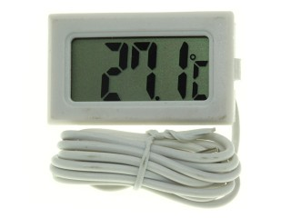 Термометр цифровой TPM-10 белый корпус с датчиком на проводе 1м