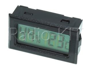 Термометр-гигрометр цифровой ЖКИ прямоугольный черный TPM-20