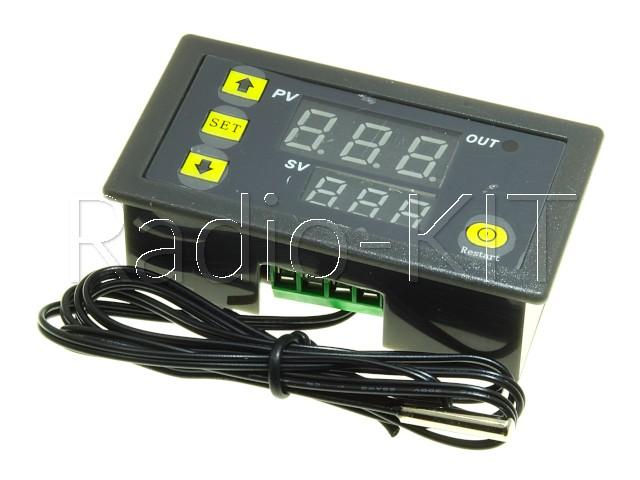 Терморегулятор цифровой AC220V XH-W3230 в корпусе приборном