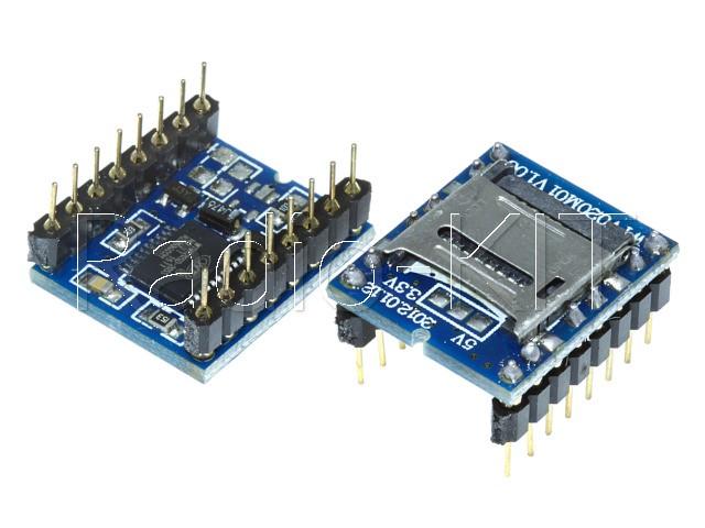 Запись и воспроизведение звука на WTV020M01 до 1Gb Модуль