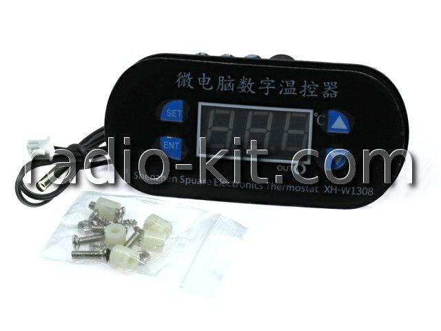 "Терморегулятор цифровой DC12V индикатор 0,56"" зеленый XH-W1308 Модуль"