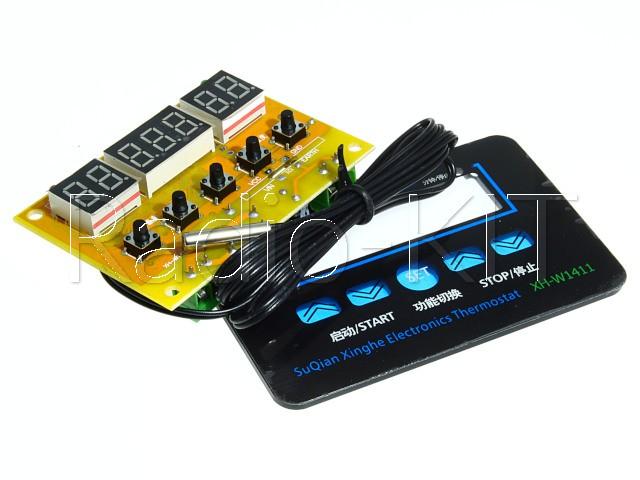 """Терморегулятор цифровой AC220V три индикатора 0,36"""" XH-W1411 Модуль"""