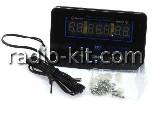 """Терморегулятор цифровой DC12V три индикатора 0,36"""" XH-W1411 Модуль"""