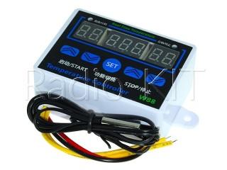 "Терморегулятор цифровой AC220V XH-W1411 три индикатора 0,36"" в корпусе накладном"